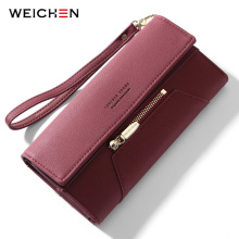 WEICHEN Wristband Clutch Wallet Women Many Departments Female Wallet Zipper Designer Ladies Purse Handbag Coin Cell