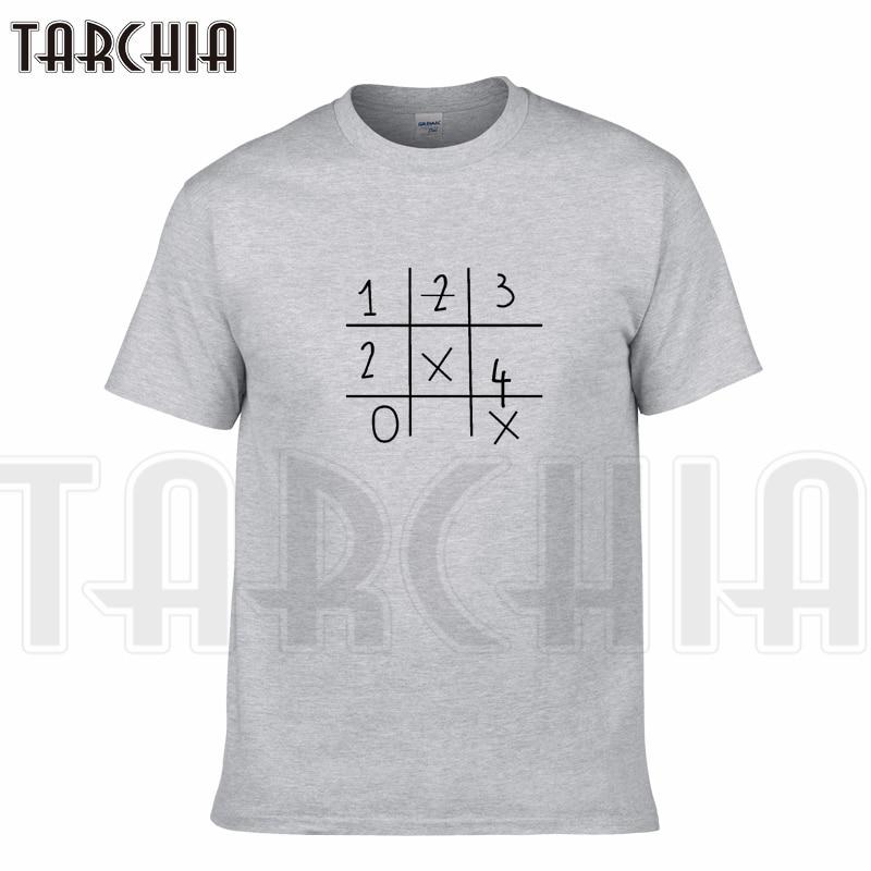 TARCHIA New Brand t-shirt digital count cotton tops tee men short sleeve boy casual homme T-shirt t plus Sudoku Crosswords