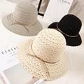 2016 Summer style Lace Ladies Cotton bucket hats Straw hat Holiday Travel sun hat Brand Visor Women Foldable Elegant Beach cap