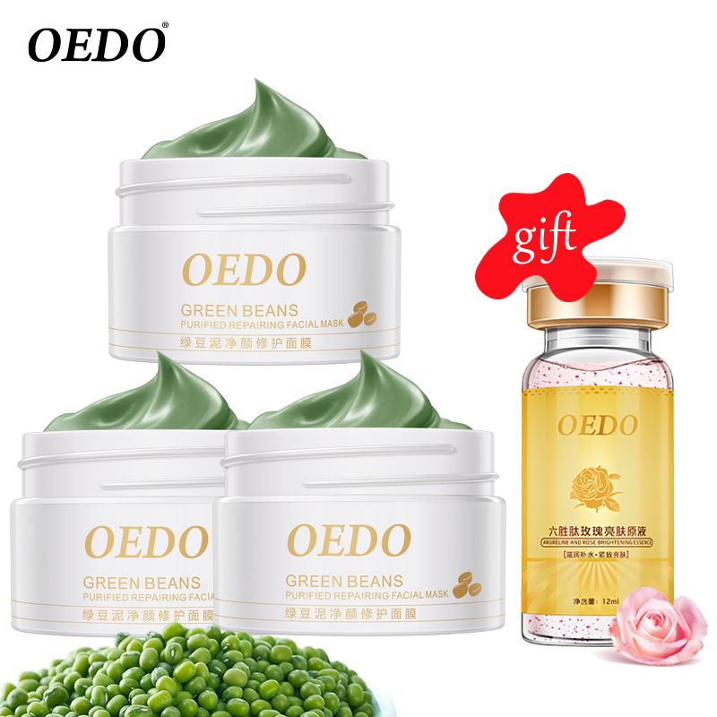 Buy 3 Get 1 Gift Mung Bean Mud Anti-wrinkle Peeling Acne Blackhead Treatment Remover Contractive Pore Whitening Hydrating Care