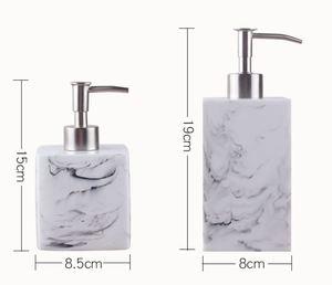 Image 2 - Creative Resin Soap Bottle Hotel Marble Shampoo Dispenser Press  Hand Sanitizer Bottle Soap Dispenser Set 400ml/500ml