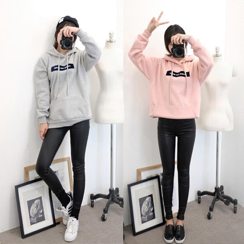 MUQGEW Fashion Womens Long Sleeve Hoodie Sweatshirt High Quality Fashion Jumper New Design Letter Pullover Tops Blouse