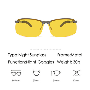 Image 2 - แว่นตาSunสำหรับชายNight Visionแว่นตากันแดดผู้ชายผู้หญิงแว่นตาแว่นตาUV400 Sunแว่นตาDriver Nightขับรถแว่นตา