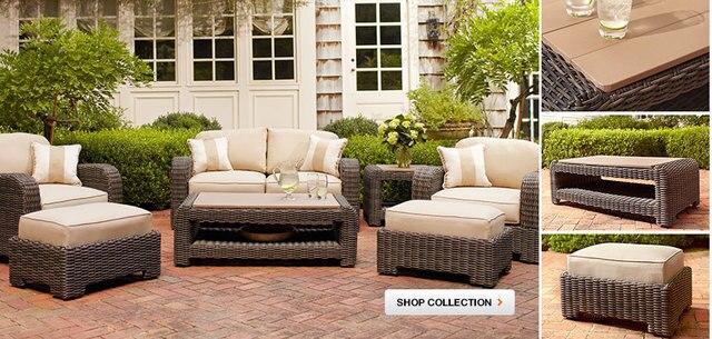 2017 High Quality Leisure Garden Resin Wicker Modern Furniture Sofa