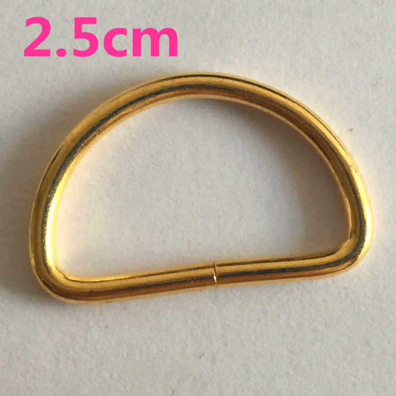5 pcs 25mm זהב/כסף מתכת טבעות D אבזם וו לולאה רצועת חגורה שאקל תרמיל מתכת נעלי שקיות אבזמי DIY אביזרים
