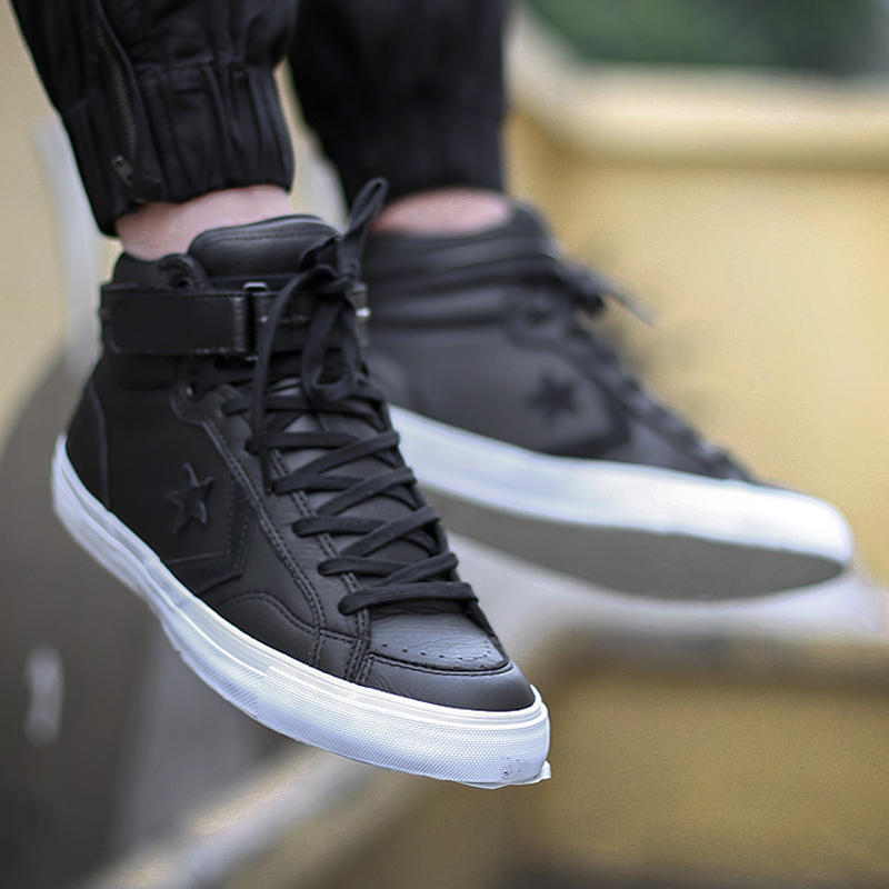 Аутентичные Для мужчин кроссовки CONVERSE для отдыха Black Label Для мужчин обувь высокие кожаные свет Термальность Converse парусиновая обувь для Для м...