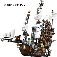 King 83002(16002) Movie Series Pirate Ship Metal Beard's Sea Cow Model Building Kits Blocks Bricks Toys Compatible With 70810