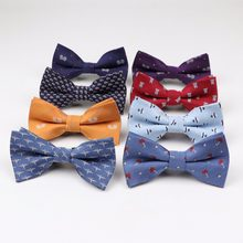 Children Man Fashion Polyester Bow Tie Kid Classical Bowties Umbrella Car Fish Aircraft Bicycle Butterfly Party Pet Bowtie Ties(China)
