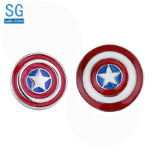 SG Kualitas Tinggi Kapten Amerika Bros Thor Flash Superman Deadpool Avengers Thanos Masker Pin Pria Mantel Perhiasan(China)