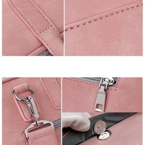 Image 4 - Da PU thời trang túi xách đựng Laptop cho nữ 14 15 15.6 17.3 inch cho Macbook Air 13 inch áo di động chống nước Túi đựng Máy Tính xách Tay