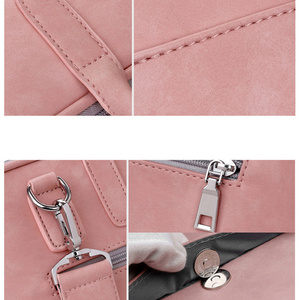 Image 4 - Fashion PU Leather Laptop bags for women 14 15 15.6 17.3 inch for macbook air 13 inch casual portable waterproof  Notebook bag