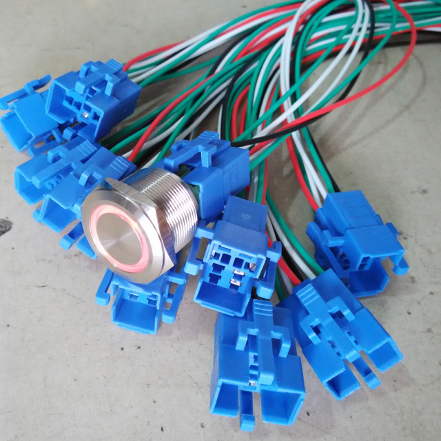 anti vandal switch wired harness for 25mm and 30mm switch customizedanti vandal switch wired harness for 25mm and 30mm switch customized wire is avaiable ,