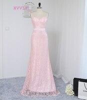 Hvvlf 2017 cheap bridesmaid dresses under 50 mermaid sweetheart floor length pink sash lace wedding party.jpg 200x200