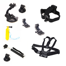 For GoPro Kit Gopro Float+Monopod+Chest Straps+Head Belt+Suction Cup Mount+Extendable Handheld Monopod For Go pro Camera
