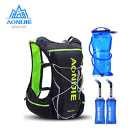 2018 AONIJIE Pro Men Women 10L Outdoor Bags Hiking Backpack Vest Marathon Running Cycling Backpack Optional Bottle Water Bag