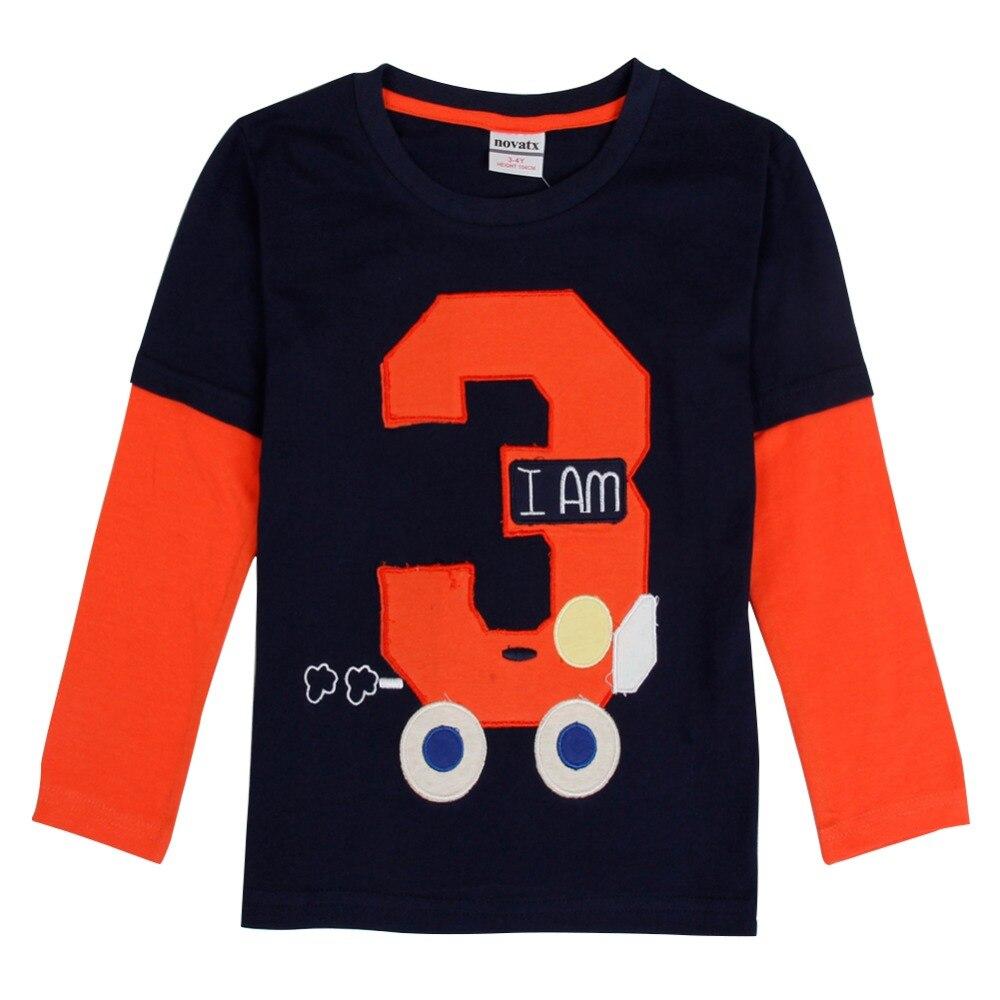 Shirt design boy 2016 - Retail Nova Kids Baby Boys Clothing 2016 Full Sleeve Geometric Boy T Shirt 2016 New Design Children Boys Baby Clothing Top Tee