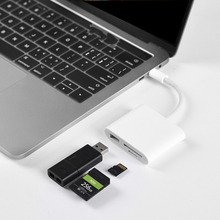 for HuaWei Phone for Macbook Pro 3 in 1 type-c to USB/SD/TF adapter micro type c usb-c usb 3.0 Charger Data Converter 3 in 1 usb 3 1 type c to vga digital multiport adapter female usb3 1 type c female usb 3 0 charger charging port for macbook