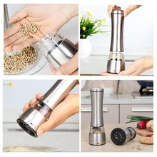 2 Pcs/Lot Salt And Pepper Grinder Pepper Mill Manual Salt Grinder Mill For Spices Pepper Shakers Spice Grinder Ceramic Mill