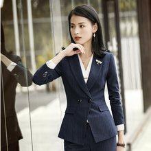 Manga larga elegante Formal rojo uniformes estilos Blazers y chaquetas de  abrigo para las mujeres de negocios damas Tops ropa Ou. d8d39e366ee1