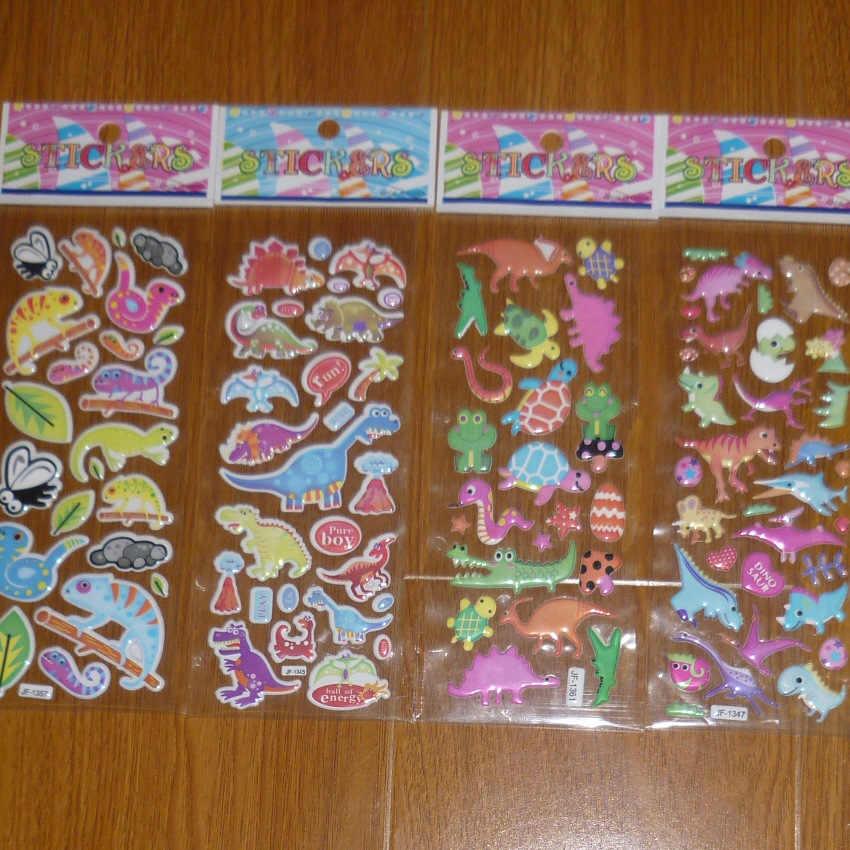 & 5/10 шт/партия наклейка динозавра пузырь мультфильм животное школа 3D пышные пенопластовые наклейки награда дети подарок скрапбук Рождество
