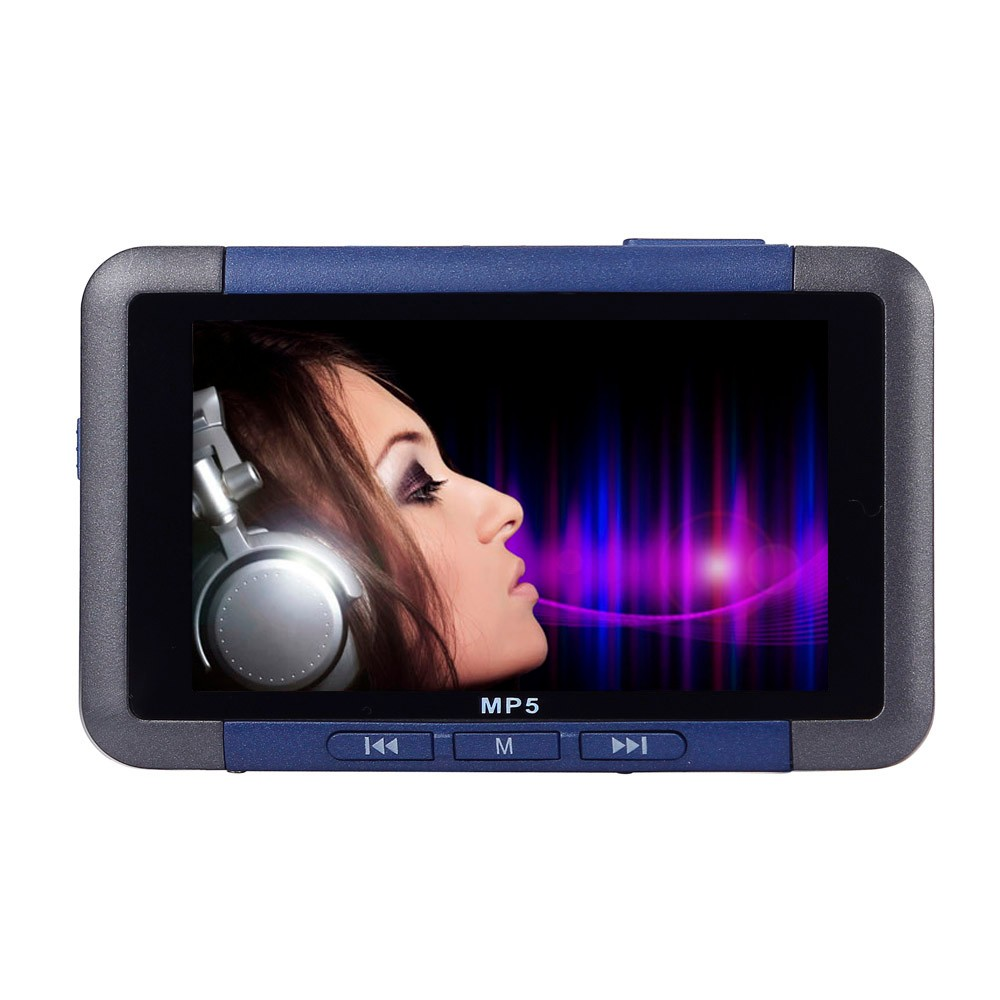 цена на NEW Big promotion Portable 8GB Slim MP3 MP4 MP5 Music Player With 4.3 LCD Screen FM Radio Video Movie High Sound Quality