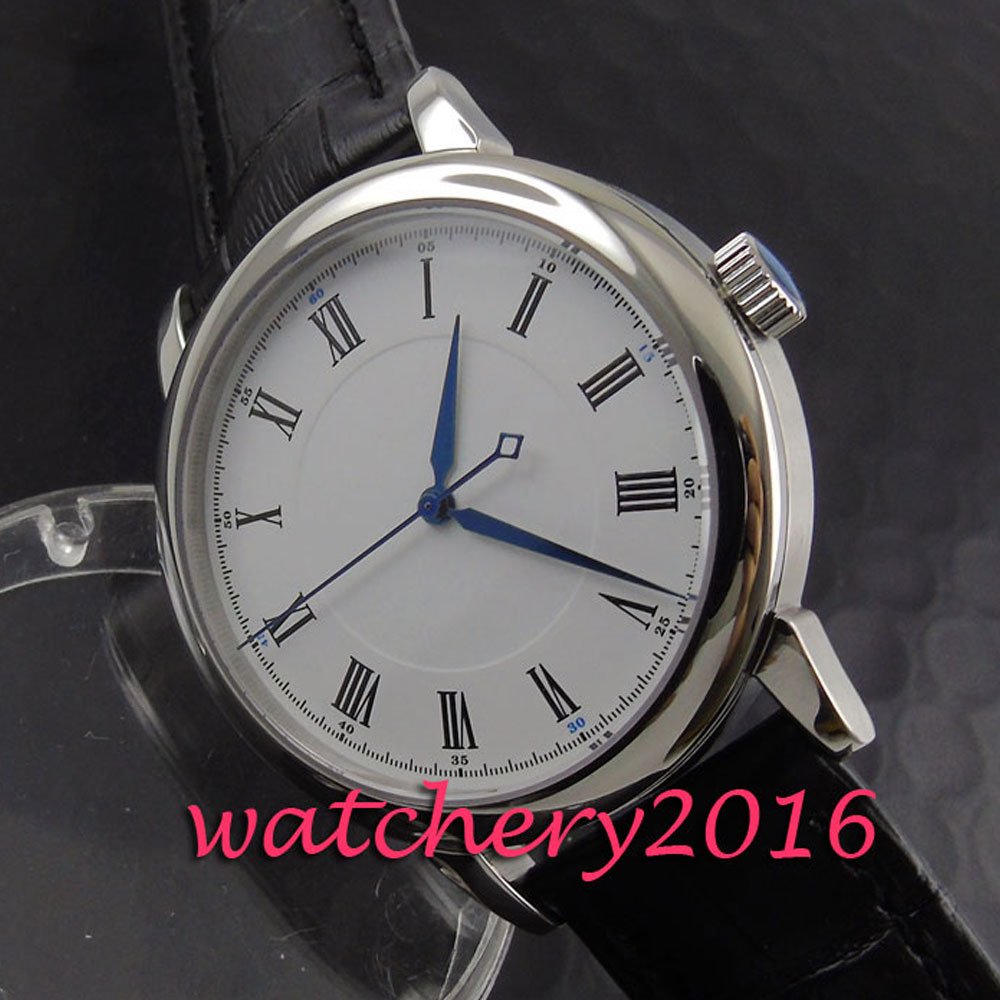 Fashion 40mm Parnis white dial black number watches men fashion watch 2017 miyota Automatic Movement Men's Watch japan miyota 40mm pvd case parnis men s watch