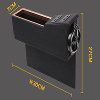 One Piece Universal Leather Car Styling Accessories Stowing Tidying Car Storage Box Organizer With USB Connection