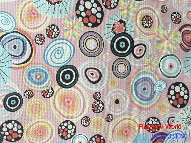 080b842c784b8 High Quality Round Pattern Faux Pu Leather Fabric For Diy Sewing Sofa Table  Shoes Bags Bed