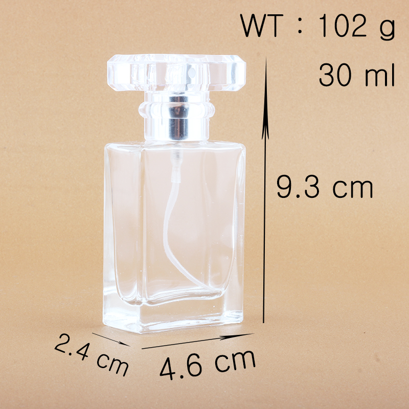 Купить с кэшбэком Ynzzio 30ml Clear and Black Refill Glass Spray Refillable Perfume Bottles Glass Automizer Empty Cosmetic Container For Travel