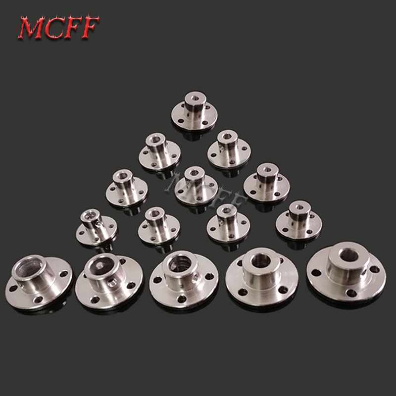 Image 2 - 3mm 3.17mm 4mm 5mm 6mm 6.35mm 7mm 8mm 10mm 11mm 12mm Rigid Flange Coupling Motor Guide Shaft Coupler Motor Connector-in Parts & Accessories from Toys & Hobbies