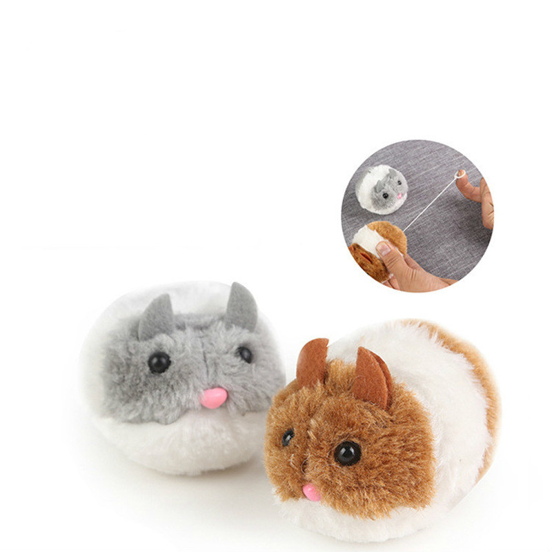 YOOAP Shake chubby rat funny cat toy plush manual interactive pet