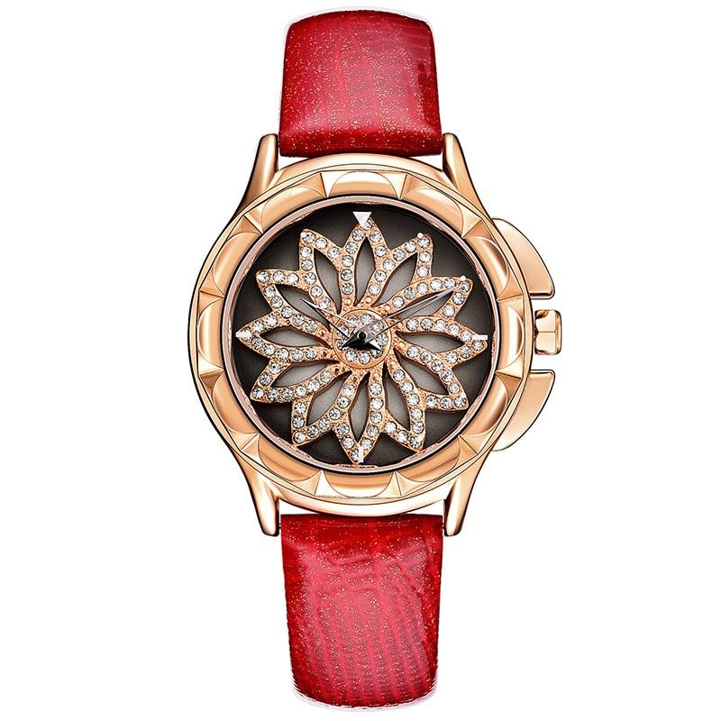Bracelet Watches Women Luxury Crystal Dress Wristwatches Clock Women's Fashion Casual Leather Quartz Watch reloj mujer