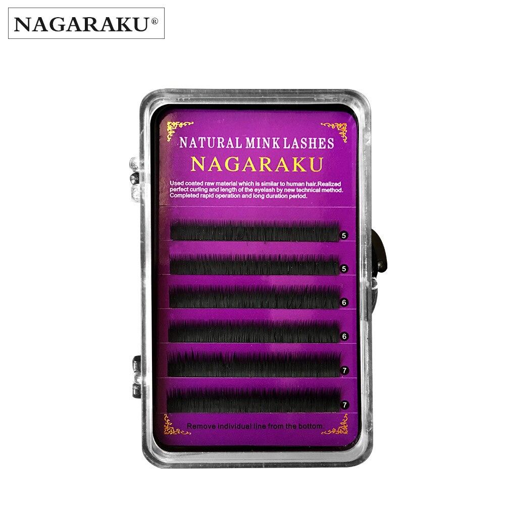 NAGARAKU Eyebrow Individual Eyelash Extension 5mm 6mm 7mm Mixed Matt Black Semi-permanent Bottom False Eyelashes Soft