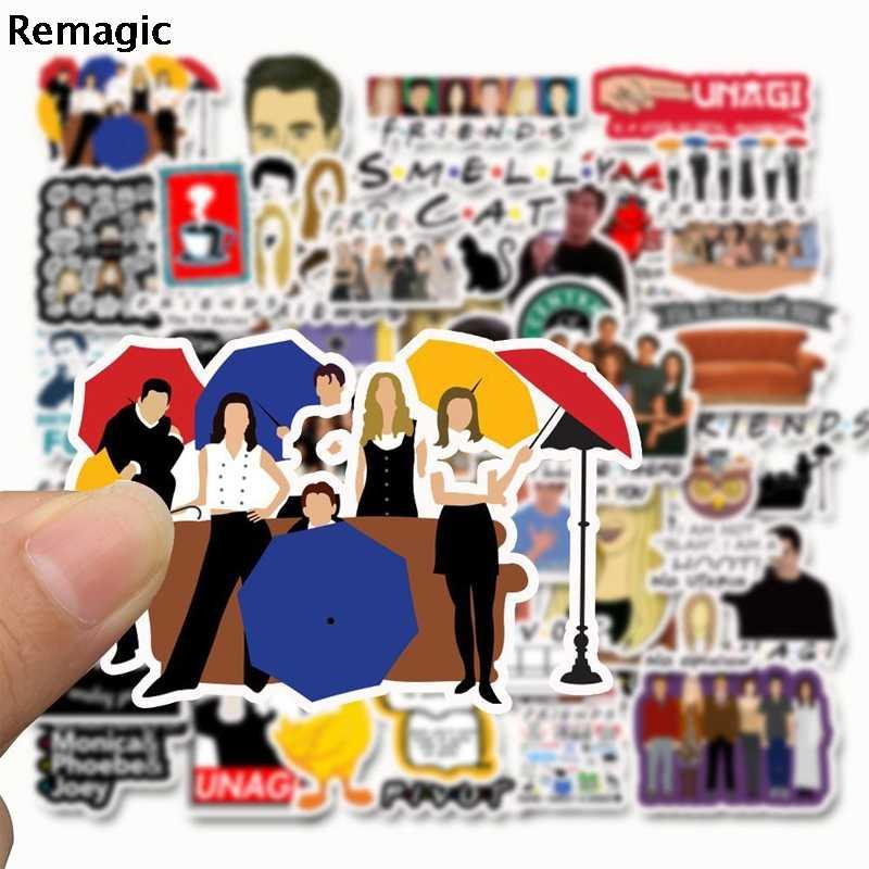 50 Uds amigos tv show carta anime vintage paster regalo juguete cosplay divertido calcomanía scrapbooking diy pegatinas teléfono portátil impermeable