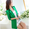 New 2017 Woman Sping Style Slim Blazer feminino Female One Button Suit Jacket Ladies' Casual Candy Women 7 Colors M-XXXL A78
