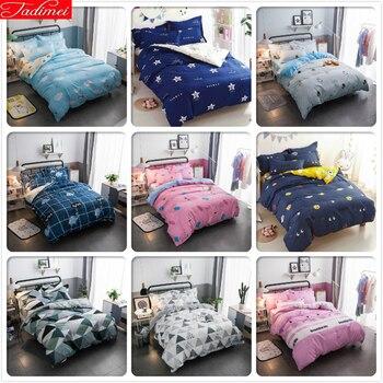 Soft Skin Cotton Bedding Set 3pcs/4pcs Kids Bed Linens Single Twin Queen King Size Duvet Cover 1.35m 1.5m 1.8m 2m 2.2m Bedspread