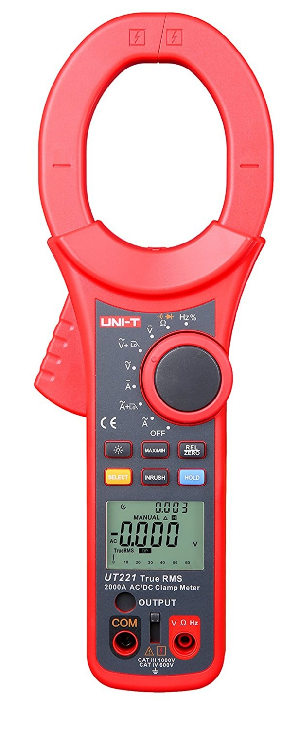 UNI T UT221 AC DC 2000A Digital Clamp Meter True RMS ammeter Resistor Frequency Diode Test Low Pass Filter Inrush Current