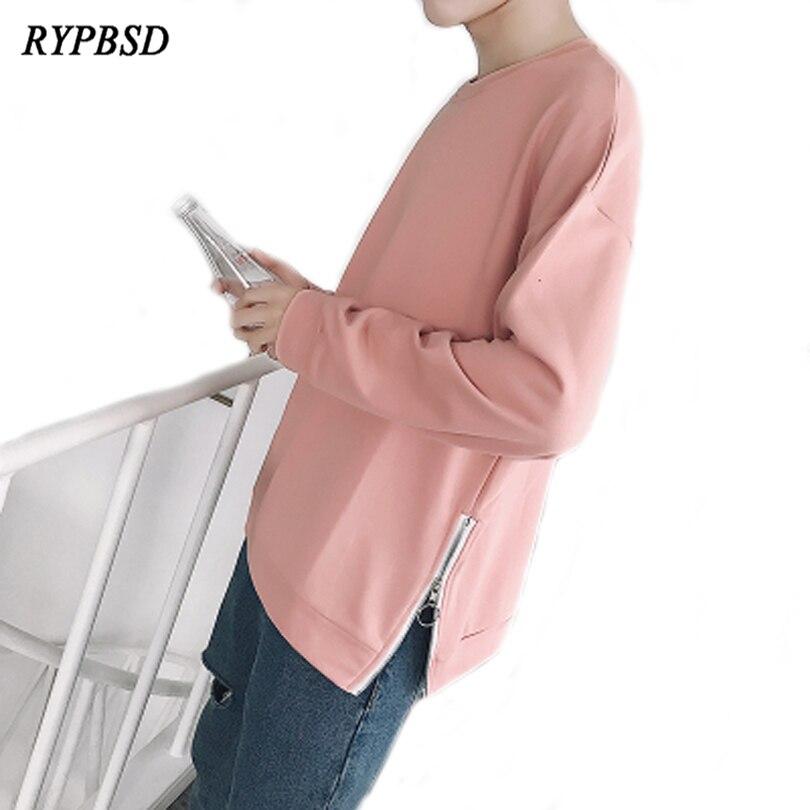 Autumn Zipper Hoodies Male Solid Color Hoodies Men Sweashirt Pink Black Street Fashion G ...