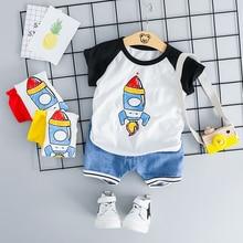ZWXLHH 2019 Summer Baby Girls Boys Clothing Sets Infant Clothes Suits Cotton T Shirt Shorts Kids Children Casual Suit цена в Москве и Питере