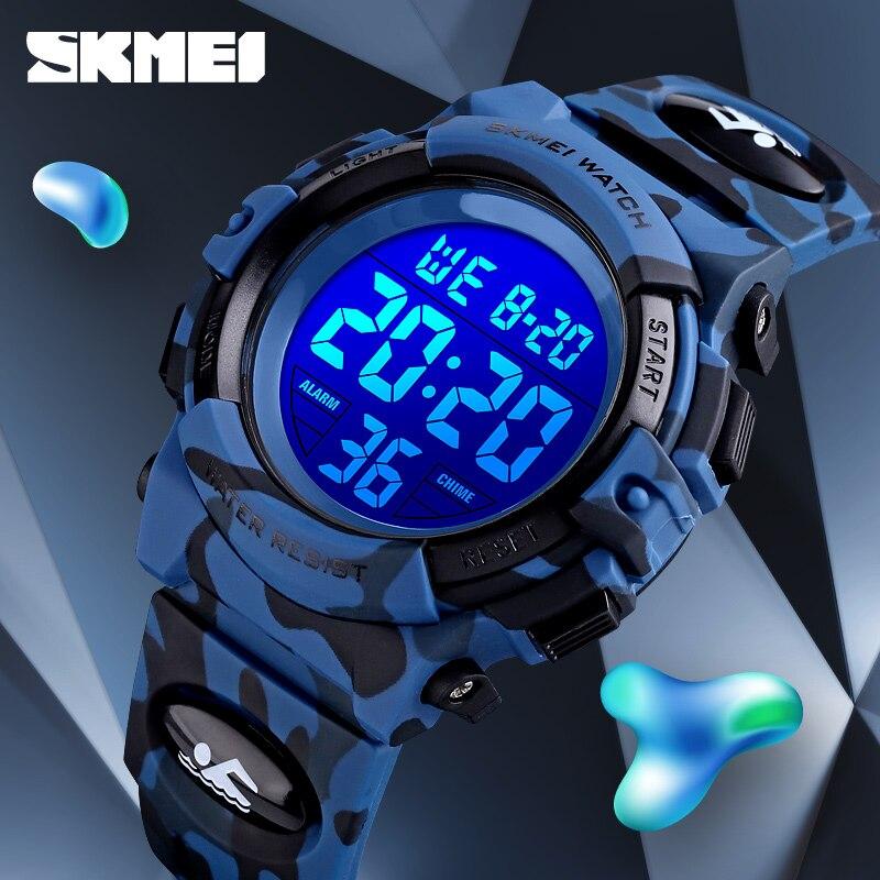 Skmei 군사 키즈 스포츠 시계 50 m 방수 전자 손목 시계 중지 시계 시계 어린이 디지털 시계 소년 소녀-에서어린이 시계부터 시계 의  그룹 3