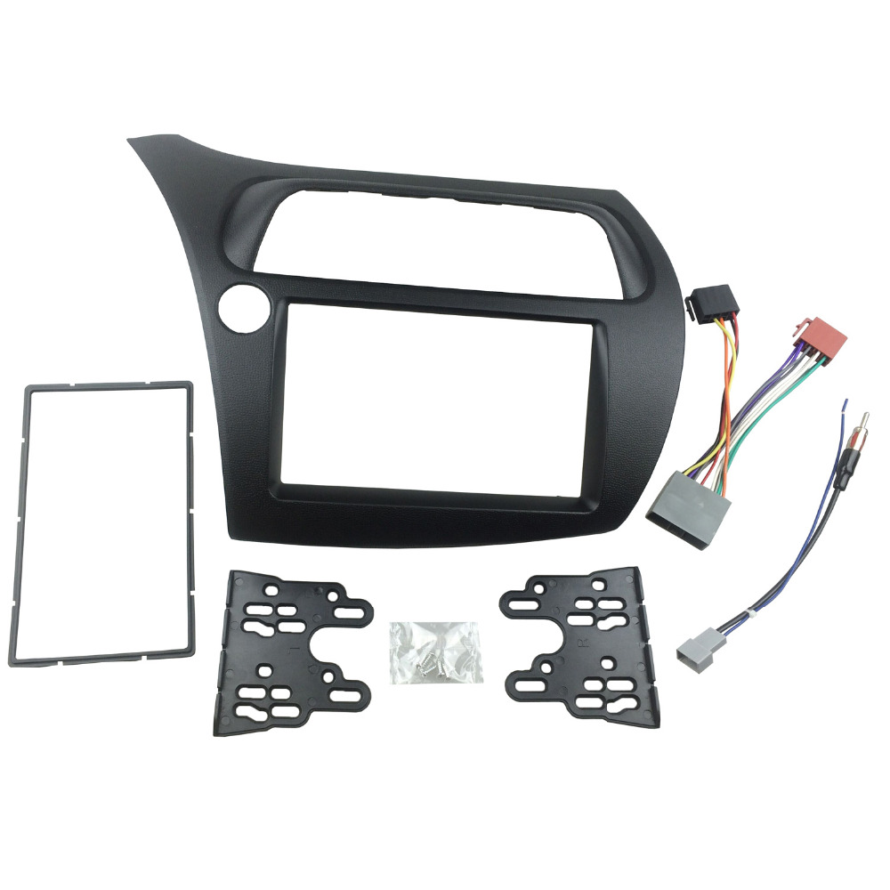 For Honda Civic Double Din Fascia Radio DVD Stereo CD Panel Dash Mounting Installation Trim Kit
