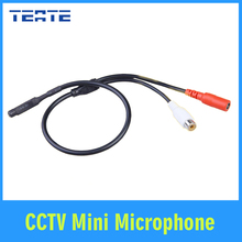TEATE CCTV Mini Microphone for Audio pick up in Wide Range Camera Mic Audio Microphone Security DVR system TET-G01CAB