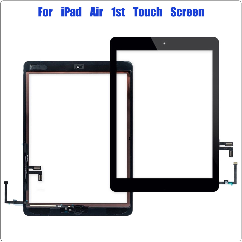 9.7 Inch For IPad 5 Digitizer For IPad Air 1 Touch Screen A1474 A1475 A1476 Front Glass Replacement With Home Button Black White