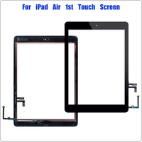 replacement home button 9.7 inch for iPad 5 Digitizer for iPad Air 1 Touch Screen A1474 A1475 A1476 Front Glass Replacement with Home Button Black White (1)