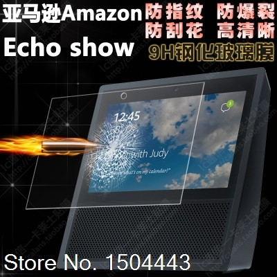 2 X Glass For Amazon Echo Show Speaker Box Real Glass 9H Tempered Glass Screen Protector Guard Film Protective Film