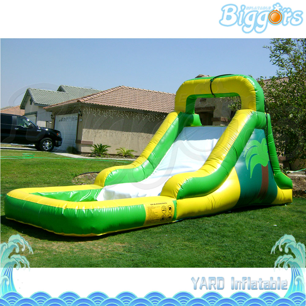 China Factory Price Water Slide With Pool For Fun PVC Cloth Commercial Use