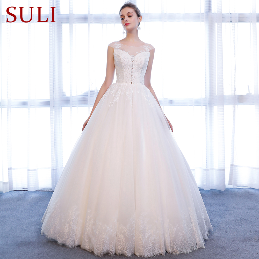 SL 303 Lace Wedding Gowns Beads Cape Sleeve 2018 Wedding Dresses Bridal Gown