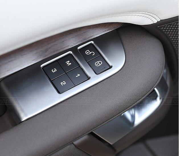 4 pièces/ensemble ABS Chrome voiture enfant sécurité porte serrure interrupteur panneau couvercle garniture pour Land Rover Discovery 5 2017 accessoires d'intérieur