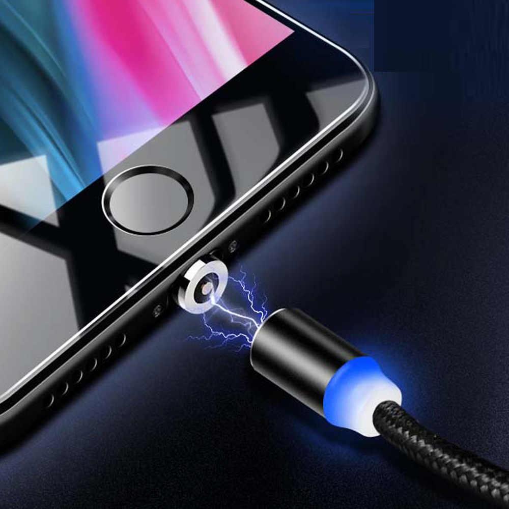 Từ Cáp Sạc, cáp Micro USB Cho iPhone XR XS Max X Nam Châm Sạc USB Loại C LED Sạc Dây Dây
