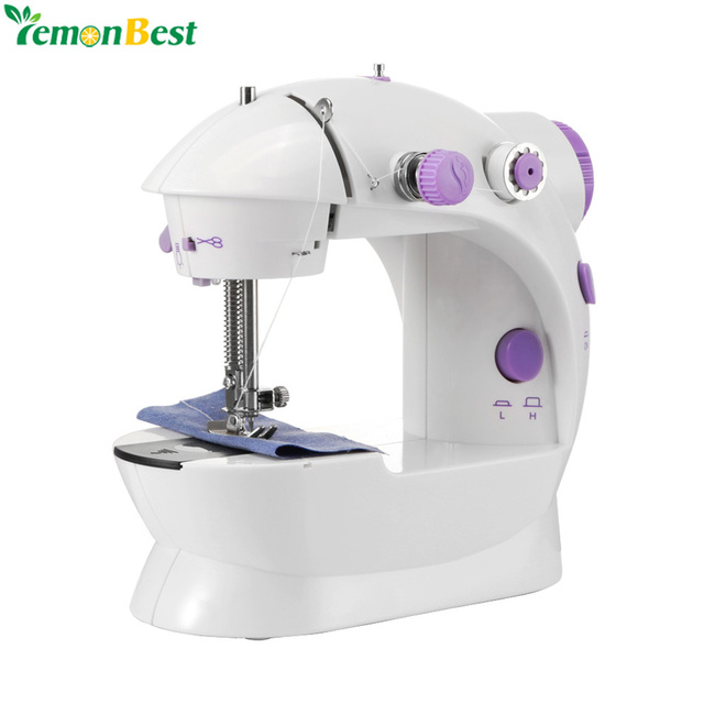 7c2a07d9080 Electric Sewing Machine 2-Speed Portable Tailor Small House Sewing Machine  Mini Multifunction Automatic Tread Rewind Sewing Mach